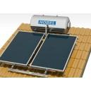 Ηλιακός Θερμοσίφωνας Nobel Inox 160 Λίτρα/3Τ.Μ ΤΕ Κεραμοσκεπής
